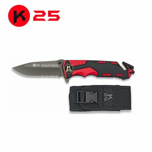 Navaja Roja/Negra K25 Seguridad