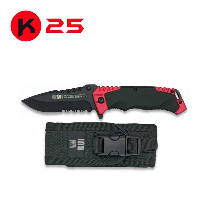 Navaja Tactica Roja/Negra K25
