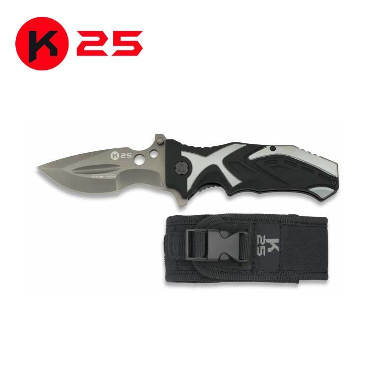 Navaja Tactica K25 Gris/Negra