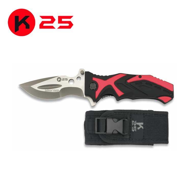 Navaja Tactica K25 Roja/Negra