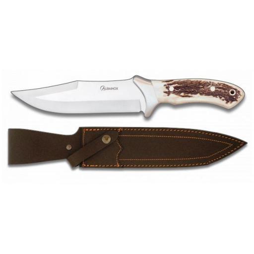 Cuchillo de Caza con Asta de Ciervo
