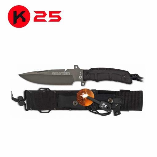 Cuchillo Tactico con Pedernal K25