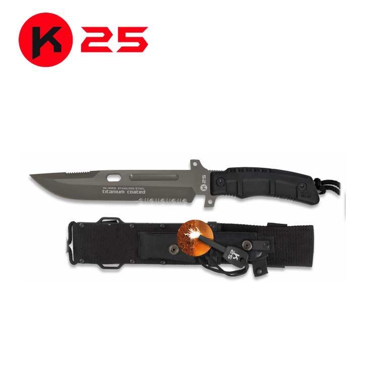 Cuchillo Tactico SLF K25 Negro