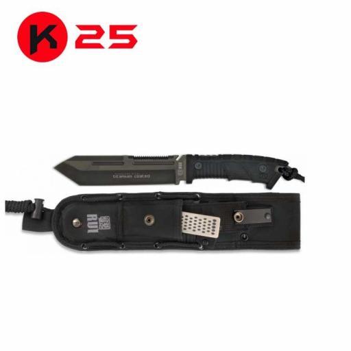 Cuchillo Tactico K25 SLF Negro