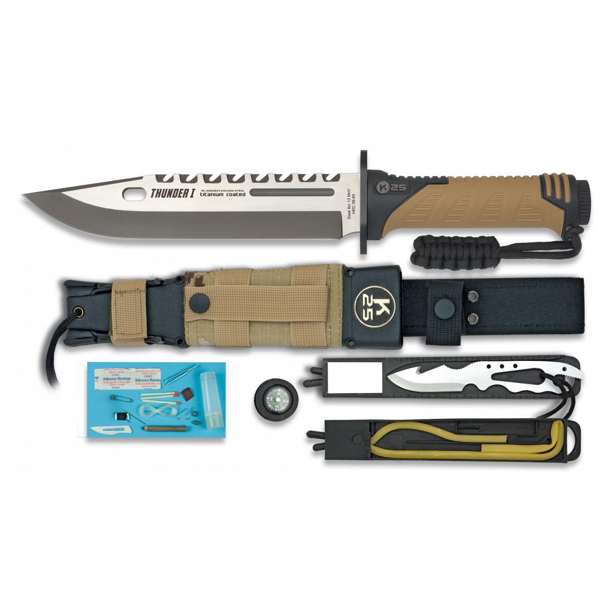 Cuchillo Tactico K25 THUNDER I Coyote