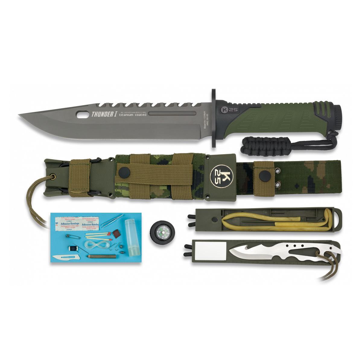 Cuchillo Tactico K25 THUNDER I Army