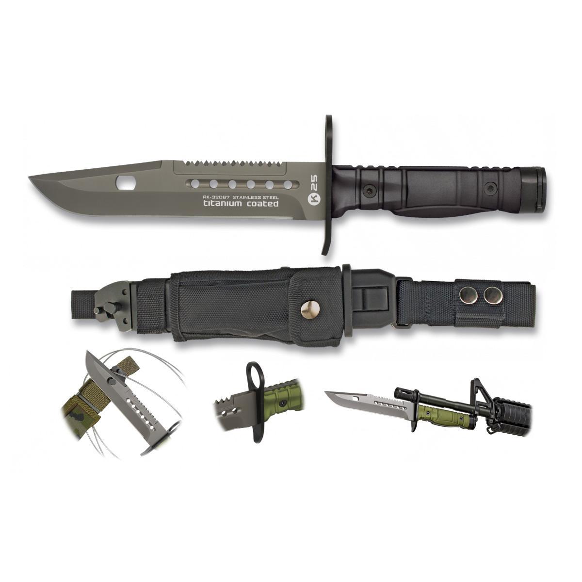 Cuchillo Bayoneta K25 Negro