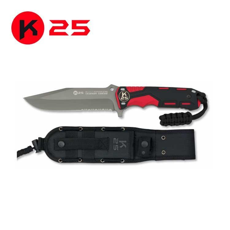 Cuchillo Tactico con Paracord K25