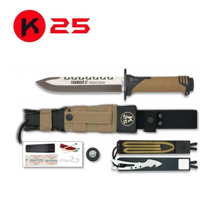 Cuchillo Tactico K25 THUNDER II Coyote