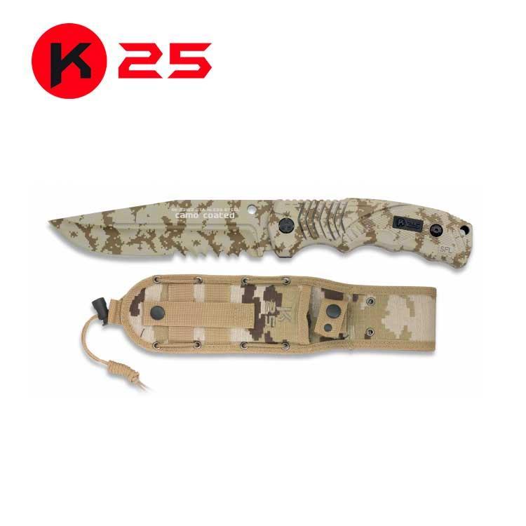 Cuchillo Tactico Camo Arido K25