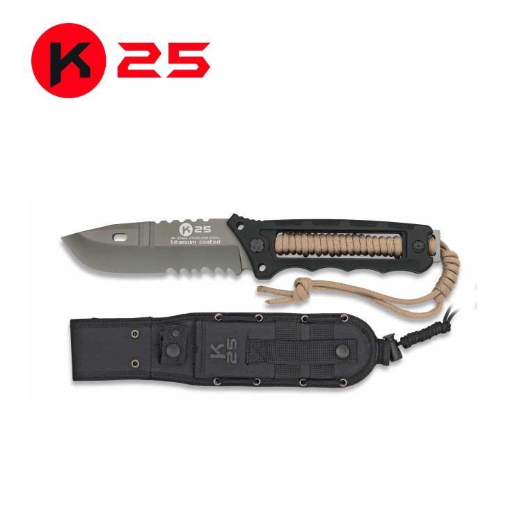 Cuchillo Tactico K25 Encordado Coyote