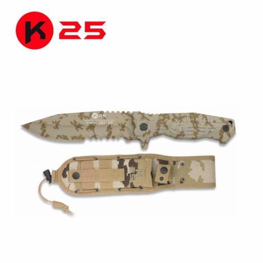 Cuchillo Tactico K25 Camo Arido