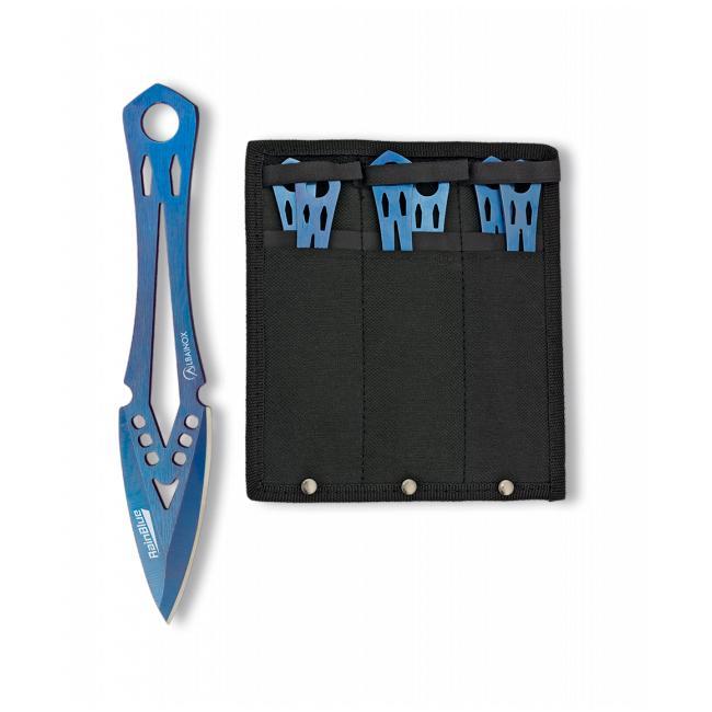 Set 6 Cuchillos Lanzadores RAIN BLUE