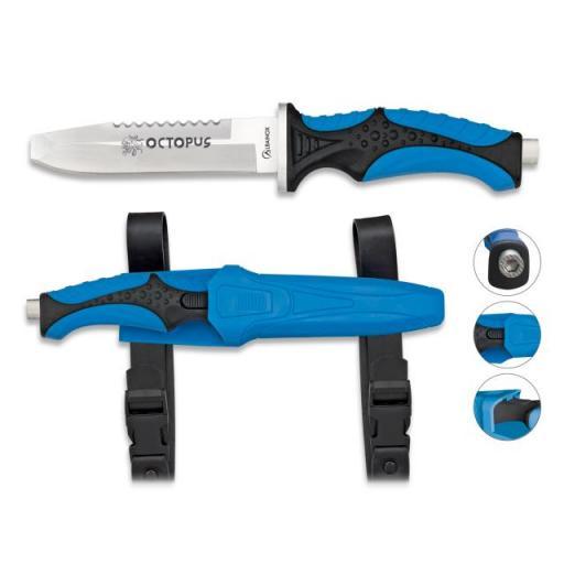 Cuchillo Submarinismo Azul OCTOPUS