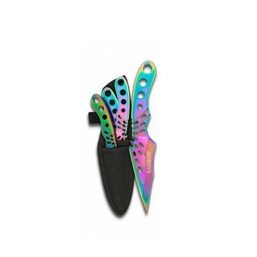 Set de 3 Cuchillos Lanzadores Rainbow