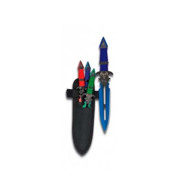 Set de 3 Cuchillos Lanzadores Colores