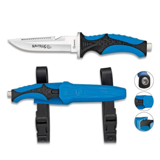 Cuchillo Submarinismo Azul NAUTILUS