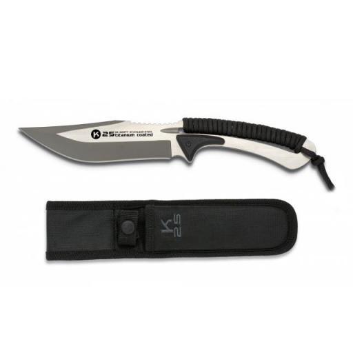 Cuchillo Encordado K25 Negro