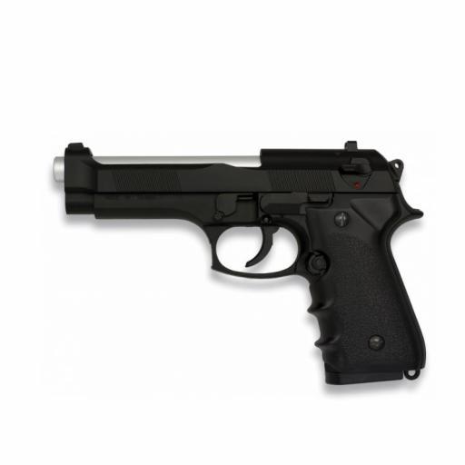 Pistola Negra Pesada Airsoft Muelle