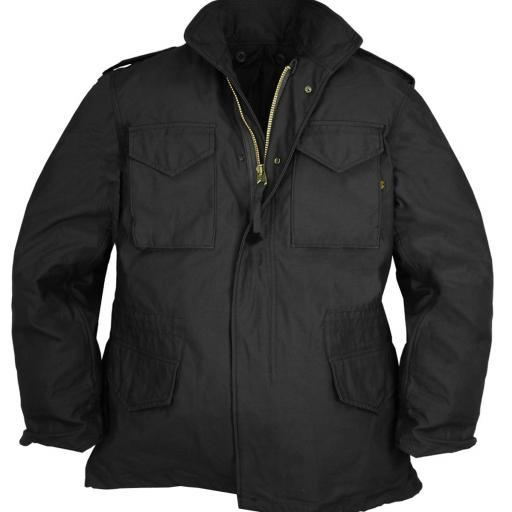 Chaqueta Negra M65  ALPHA INDUSTRIES