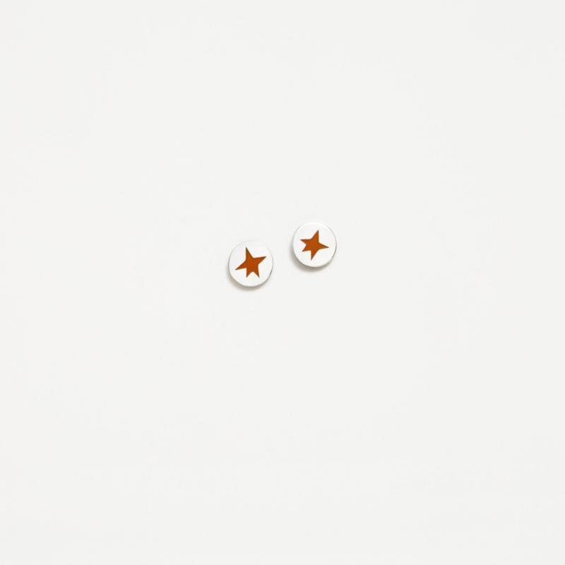 Pendientes plata Agatha Ruiz de la Prada  new icons naranja