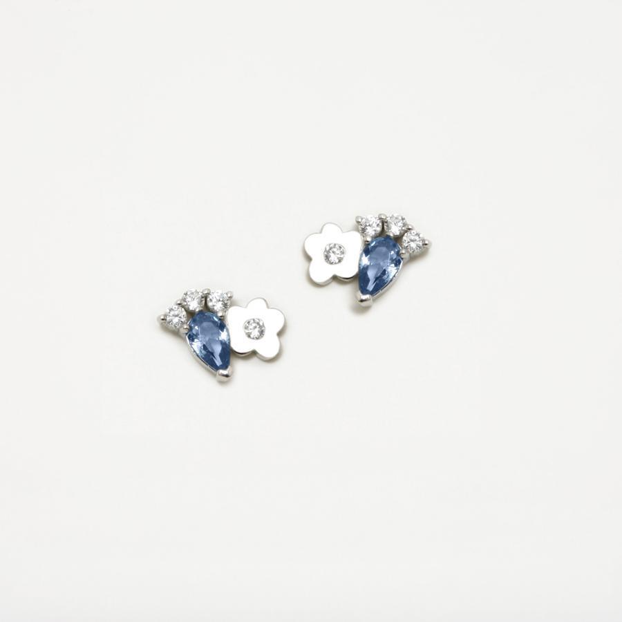 Pendientes plata Agatha Ruiz de la Prada  flor lágrima circonita