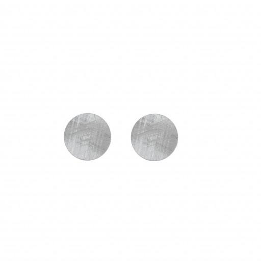 Pendientes plata Salvatore un círculo plano satinado