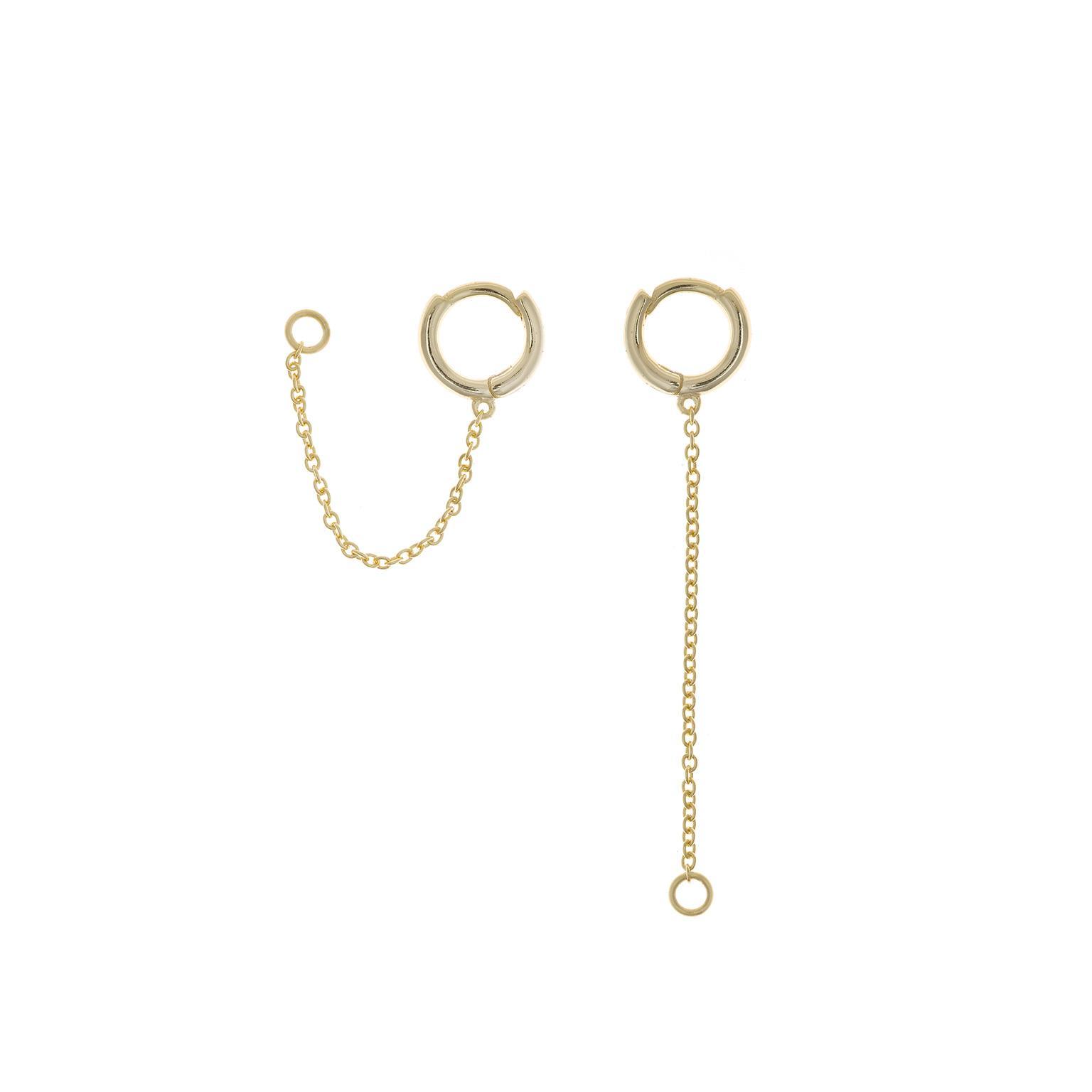 Charm  plata Salvatore cadena con aro  dorados tamaño XS
