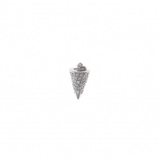 Charm  plata Salvatore cono con circonitas blancas