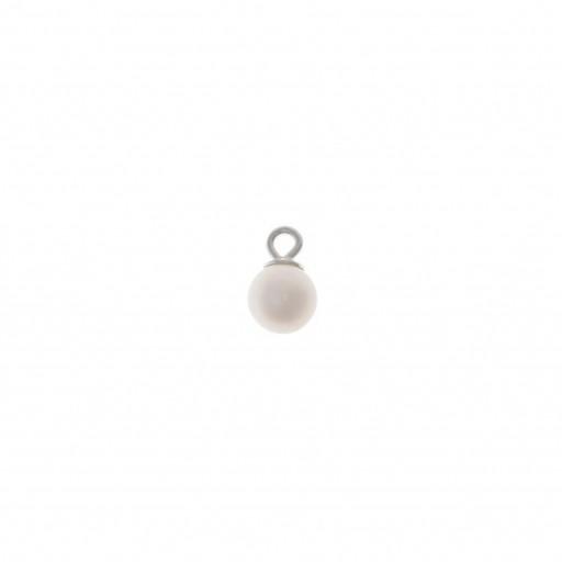 Charm plata Salvatore perla de agua dulce