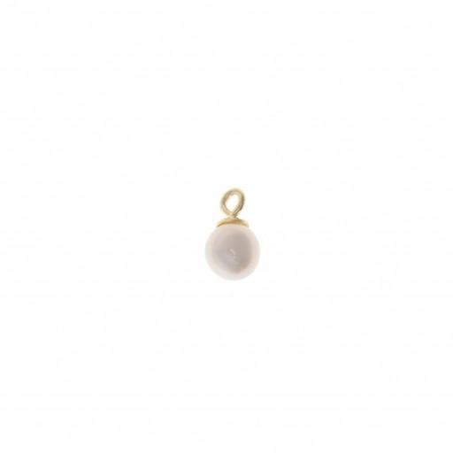 Charm plata Salvatore perla de agua dulce dorado