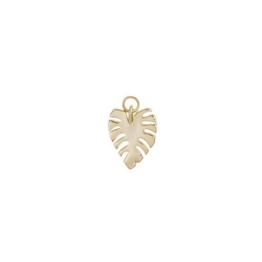 Charm plata Salvatore hoja de palmera  dorado