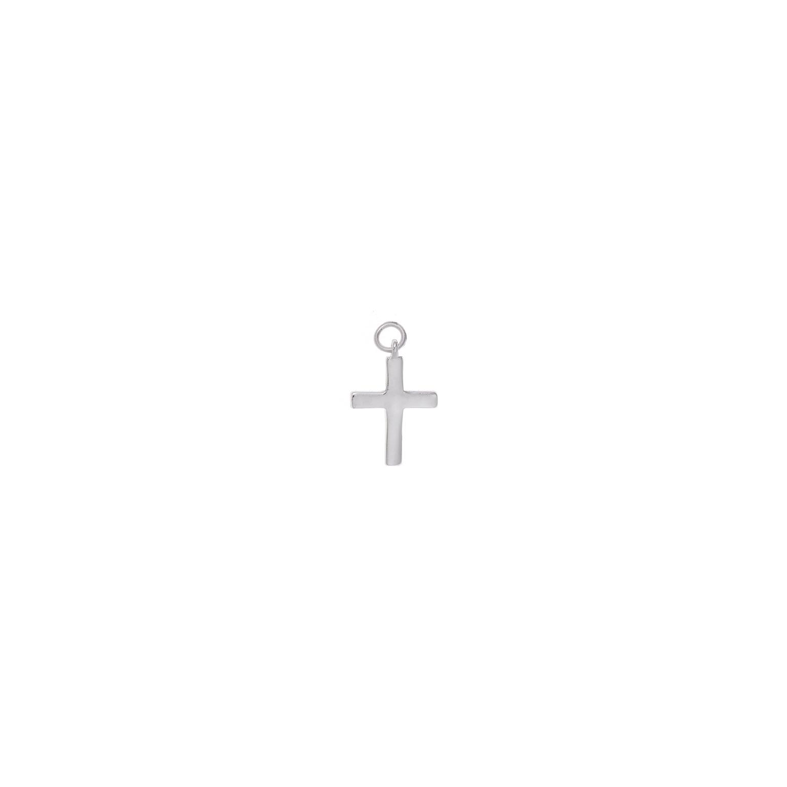 Charm  plata Salvatore cruz plata lisa