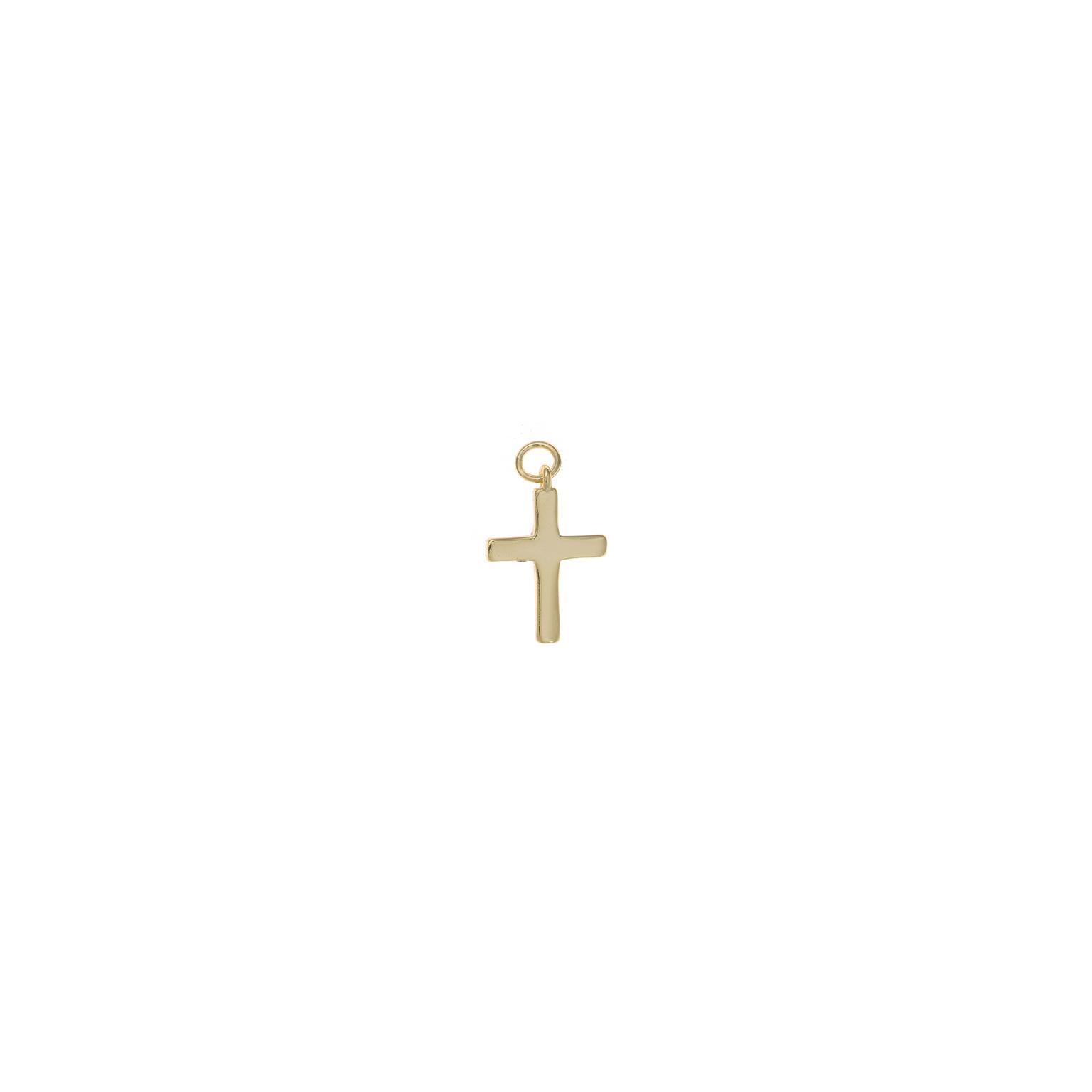 Charm  plata Salvatore cruz plata lisa dorado