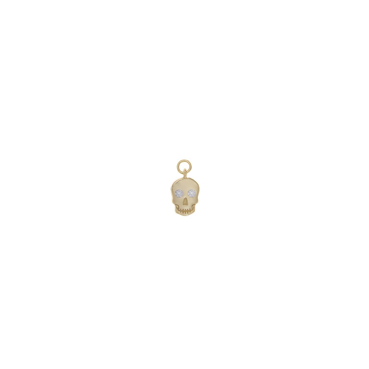 Charm plata Salvatore calavera circonitas blancas dorado