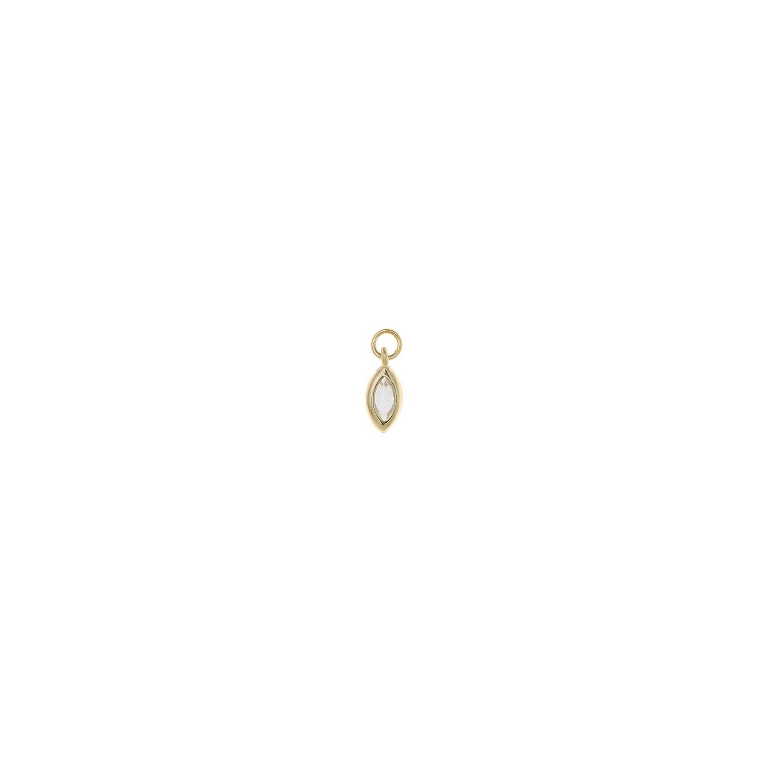 Charm plata Salvatore  marquesa circonita blanca dorado