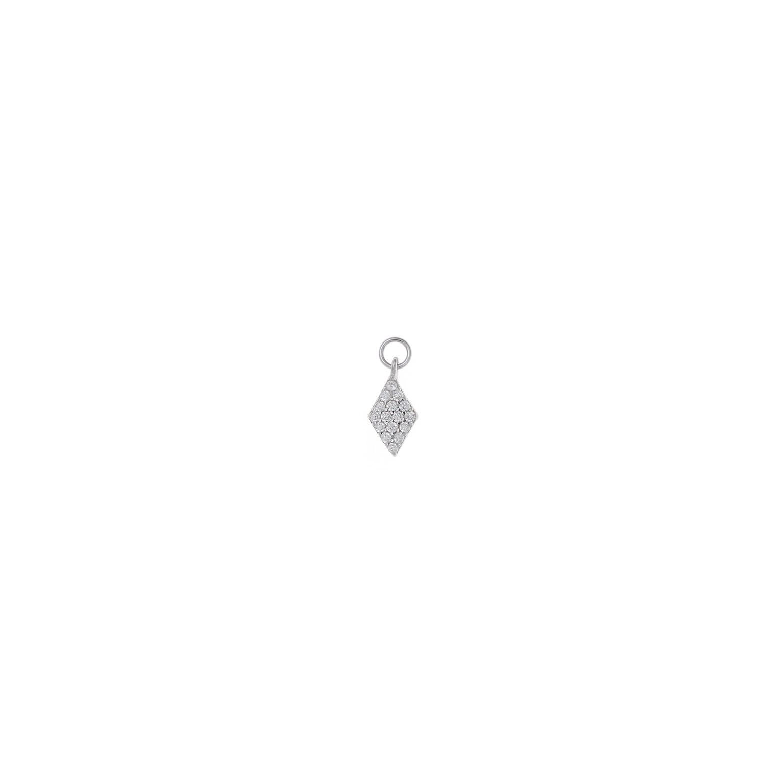 Charm  plata Salvatore rombo con circonitas blancas