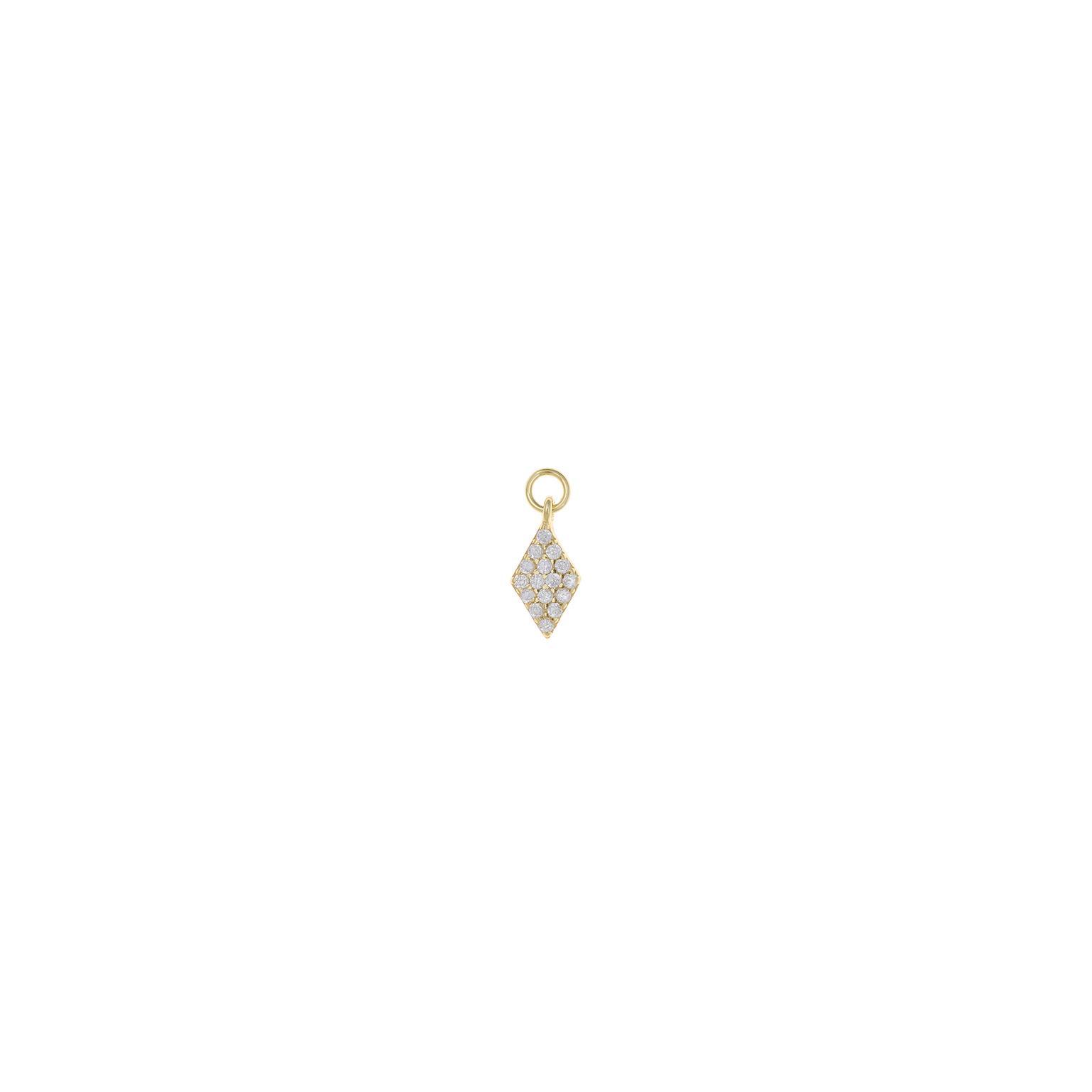Charm  plata Salvatore rombo con circonitas blancas dorado