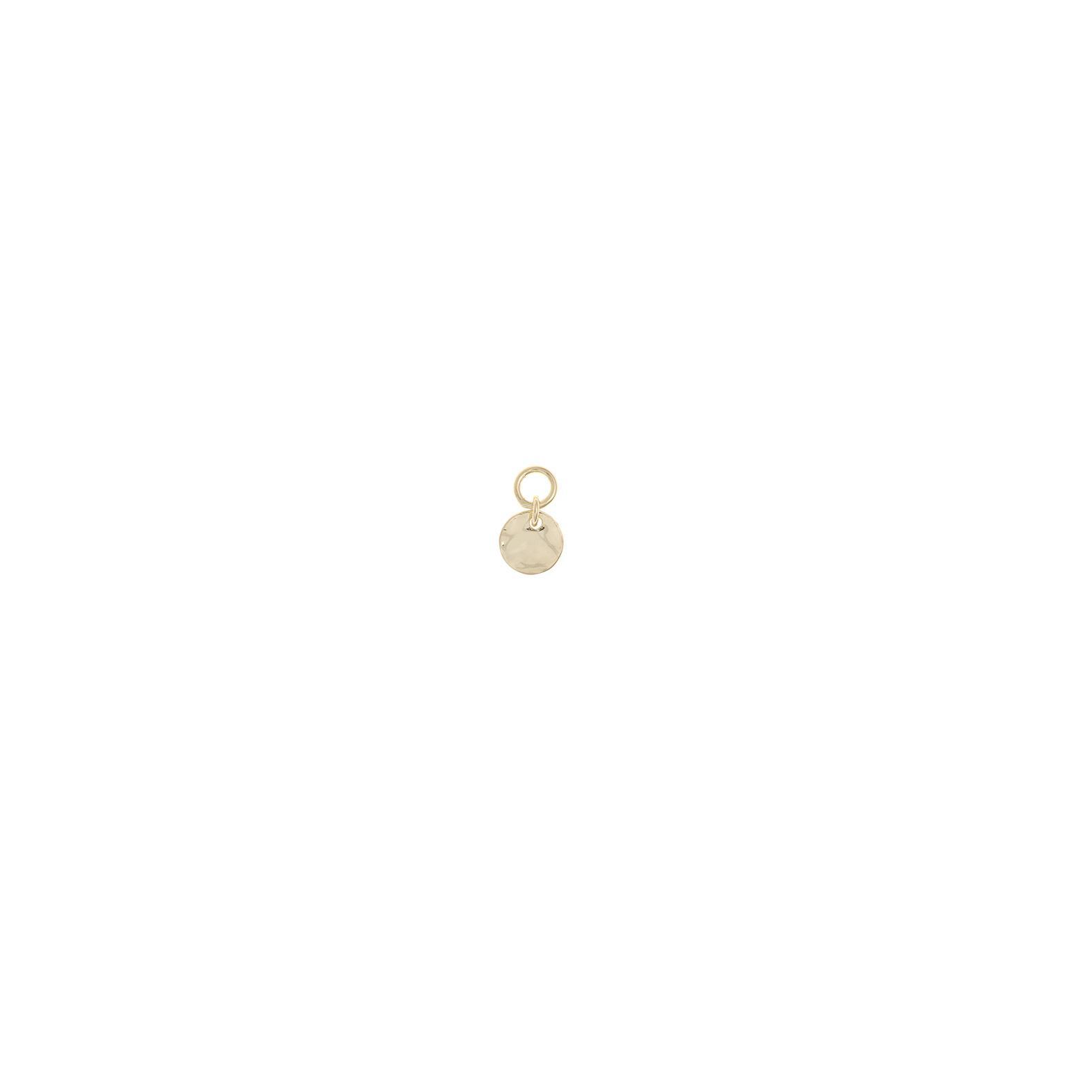 Charm  plata Salvatore medallita plata lisa dorado