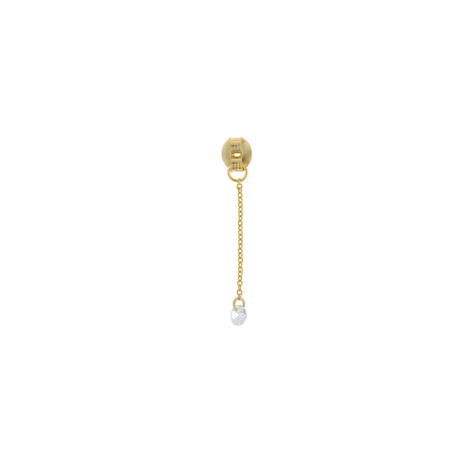 Charm  plata Salvatore cadena dorados,  con circonita blanca brillante