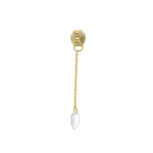 Charm  plata Salvatore cadena dorado con circonita blanca marquesa