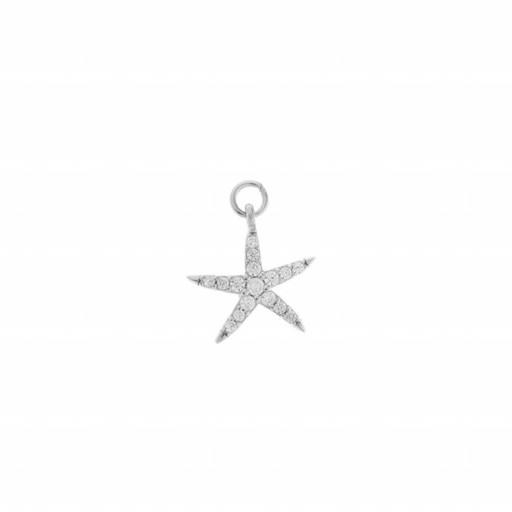 Charm plata Salvatore estrella de mar con circonitas blancas brillantes