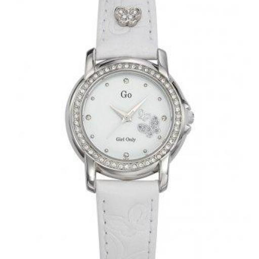 Reloj blanco colección Eblouis-moi!  mariposas