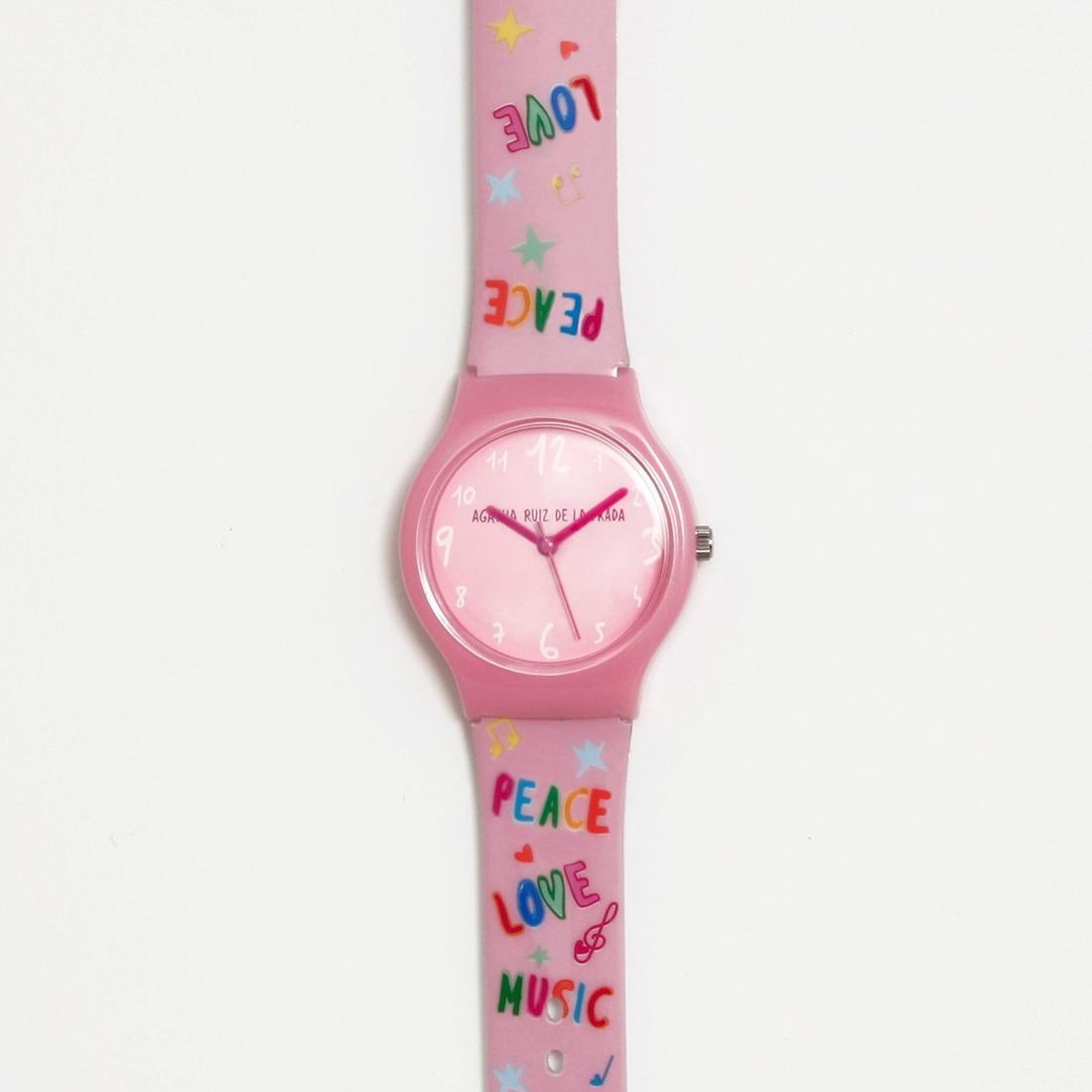 Reloj pequeño flip Agatha Ruiz de la Prada Peace, love & music