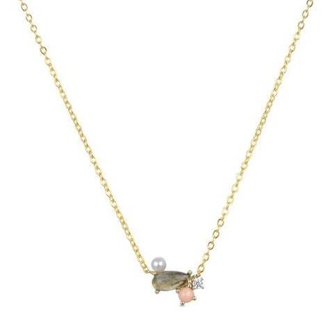 Colgante plata Simly Luxenter con labradorita dorado
