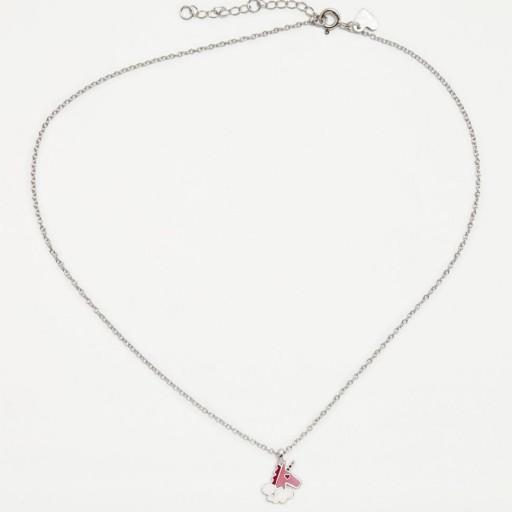 Colgante  plata Agatha Ruiz de la Prada  Unicornio rosa con circonita blanca [1]