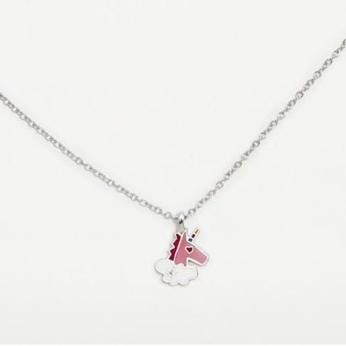 Colgante  plata Agatha Ruiz de la Prada  Unicornio rosa con circonita blanca [0]