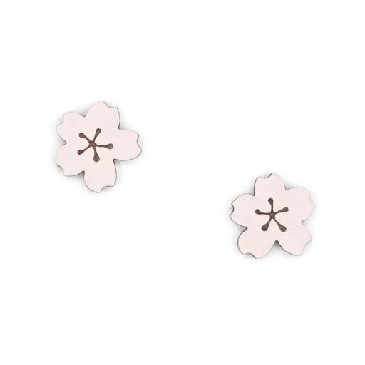 Pendientes  Materia Rica  de botón Little Sakura