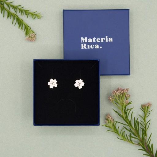 Pendientes  Materia Rica  de botón Little Sakura [2]