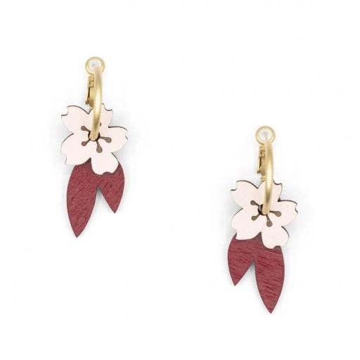 Pendientes  de aro Materia Rica  Cherry Blossom
